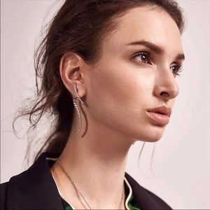 Acrylic Prada style piercing earrings